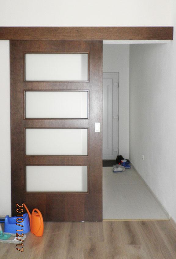 Dvere, interiérové dvere, posuvné, interiér, realizacia, Ateliér Suchánek Bratislava Dúbravka showroom, motáž a servis Slovensko