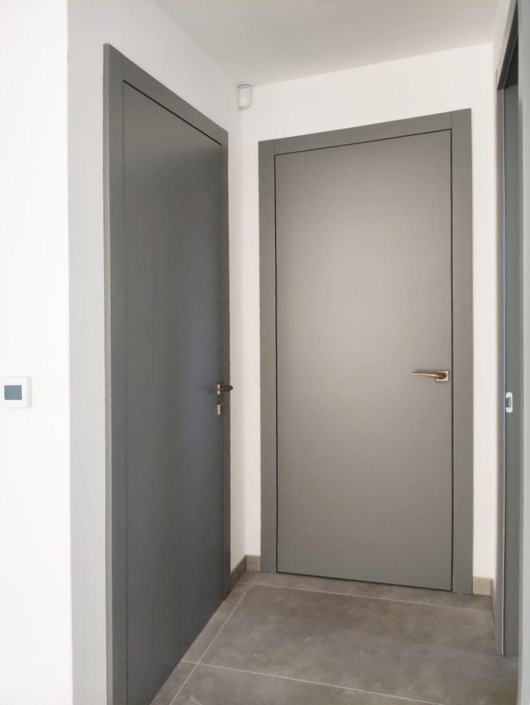 Striekane dvere na mieru seda RAL, Dvere, zarubne, interiérové dvere, posuvné, interiér, realizacia, Ateliér Suchánek Bratislava Dúbravka showroom, motáž a servis Slovensko