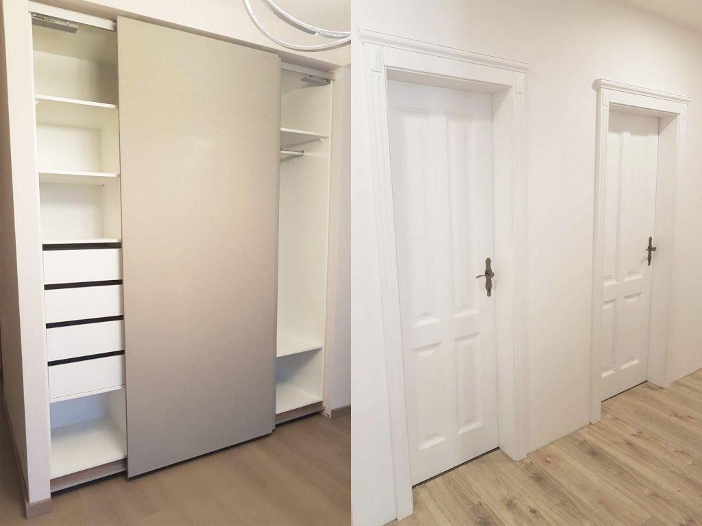 , skrina na mieru rolldoor, interierove dvere na mieru, realizacia interier, Ateliér Suchánek Bratislava Dúbravka showroom, motáž a servis Slovensko