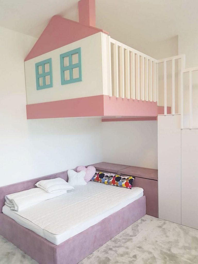 Detska izba, nábytok na mieru, detský nábytok, realizacia interier, Ateliér Suchánek Bratislava Dúbravka showroom, motáž a servis Slovensko